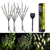 3 PCS Galho De Árvore Movido A Energia Solar Folha Padrão LED Jardim Férias Luz Caminho Ao Ar Livre Decorativo À Prova D 'Água