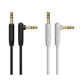 BOROFONE 3.5mm macho a macho Cable de datos AUX de audio de ángulo recto de 90 grados para iPhone X 8Plus Oneplus 6T 7 Pro