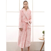Plus Size Long Sleeve Robes Nightgown
