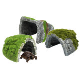 Reptile Habitat Fish Tank Hiding Cave Resin Turtle Basking Decorations Ornament