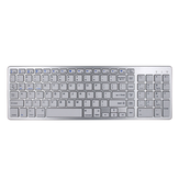 BK348 102 Keys Ultra Thin bluetooth Wireless Keyboard For Win/IOS/Android/Mac System