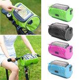 Bikight 22 سنتيمتر x 12 سنتيمتر x 12 سنتيمتر ضد للماء شاشة ملموس الدراجات السلة أنبوب GPS خلية موبايل هاتف حقائب حقيبة الدراجة الإطار للدراجات الجبلي