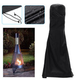 Outdoor Patio Heater Chimnea Cover Fire Pit BBQ Waterproof Dustproof Protector