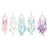 Warm White Battery Supply LED Night Light Dream Catcher Hanging Wind Chime Wall Decor Car Ornaments