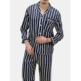 Stripes Printing Pajamas Sets