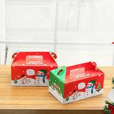 LOTE 1/2 / 5pcs Crianças Véspera de Natal Apple Caixa Bolo Tabela Presente Presente Caixaes Bolo Caixa Decorações