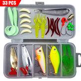 ZANLURE 33-142 шт Рыбалка Приманки для снастей Набор Приманки Приманки Набор Рыбалка Крючки