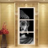 3pcs definir pinturas de arte de impressão retrato da parede decoração de casa sem moldura preta