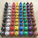 10Pcs Polyhedral Dices DND Games Desktop Board Games Dice with Storage Bag