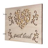 パーソナライズされた結婚式の署名本誕生日洗礼ゲストブックスクラップブック木製アルバムの装飾