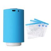 Portátil Mini Aferidor Do Vácuo Elétrico Bomba de Ar USB Recarregável Automático Alimentos Roupas Máquina de Embalagem de Vedação Com 5 sacos