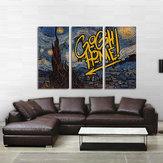 Miicoハンド塗装3つの組み合わせ装飾画星空Skyウォールアート家の装飾