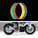 16 stks band reflecterende strips tape styling wiel sticker velg voor 17 inch 18 inch auto motorfiets fietsband