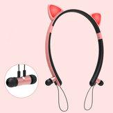 Bakeey ZW29 Gato Oreja dibujos animados lindo bluetooth magnético Auricular diadema iluminación deportes auriculares para Mujer regalos