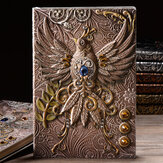 A5 Embossed Leather Travel Journals Vintage Handcraft Embossed Phoenix Antique Diary Notebook