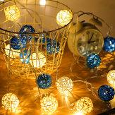 2M Batterie Powered Sepak Takraw Warmweiß 20LED Fairy String Light Weihnachtsfeier Urlaub Dekor