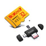 Bakeey 32GBカメラカードアダプター付きクラス10高速TFメモリーカード+3 In 1 Type-C USB2.0マイクロUSBメモリーカードリーダー