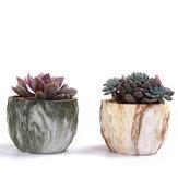 4Pcs/set Ceramic Natural Stone Style Flower Succulent Planting Pot Garden Decor