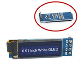 0.91 بوصة 128x32 IIC I2C أبيض OLED عرض الوحدة النمطية SSD1306 سائق IIC تيار منتظم 3.3 فولت 5V