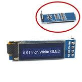 0.91 İnç 128x32 IIC I2C Beyaz OLED Ekran Modül SSD1306 Sürücü IIC DC 3.3V 5V