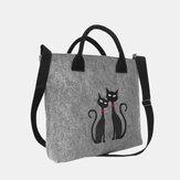 Damen Umhängetasche Katze Muster Handtasche