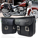 Motorcycle Saddlebags PU Leather Side Storage Pouch For Harley Sportster