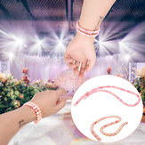 Hecho a mano Natural Rosa Queen Conch Shell Beads Round Stretch Bracelet 6mm / 8mm