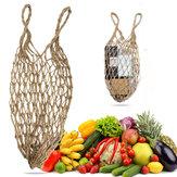Malla Yute Cadena Neto Compras Mango corto Almacenamiento reutilizable Bolsa