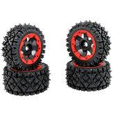 4PCS Rovan 85321 Front Rear Tires & Wheels for 1/5 HPI Rovan KM Baja 5B RC Car Parts