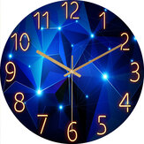 12 Inch Fashion Glass Quartz Clock Home Living Quiet Silent Simple Clock