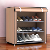 3/4/5 Layers Multilayers Stainless Steel Shoe Rack Shoes Storage Desktop Organizer