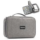 Boona 23cm * 16cmダブルデッキデジタルアクセサリー収納袋UディスクメモリーカードUSBケーブルタブレットオーガナイザートラベルバッグ