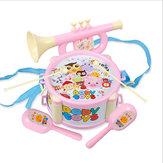 Bebê trompete de areia dupla face Hammer bateria mão Orff instrumentos musicais brinquedos educativos