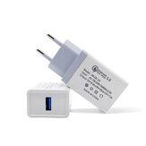 Bakeey QC3.0 18W Quick شحن USB شاحن محول EU Plug for OnePlus 7 Pro 5T UMIDIGI Z2 HUAWEI P30 XIAOMI MI8MI9 S10 S10+