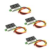4 PCS 805 Micro 0.36 Inch Digital Battery Voltmeter DC 0V-100V Three Wires 3 Digit Voltage Panel Meter LED Display for RC Airplane Car Boat Motorcycle