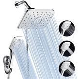 ABSおよびクロム仕上げ浴室用蛇口シャワーヘッドコンボw / 60インチステンレスホース