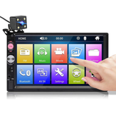 7023B 7 بوصة 2 DIN Car Radio Radio عالي الوضوح لمس شاشة Multimedia MP5 Player FM Bluetooth TF USB with Rear الة تصوير