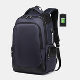 Men Large Capacity Nylon Fashion Waterproof USB Backpack