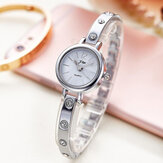 Luxury Fashion Bracelet Steel Strip Rhinestone Women Watch