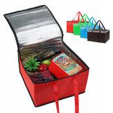 12 inç Piknik Çanta Gıda Yalıtımlı Çanta Kampçılık BARBEKÜ Öğle Çanta Taşınabilir Pizza Gıda Pizza Teslimat Çanta