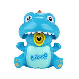 Pickwoo Dinosaur Automatic Bubble Machine Maker with Dual Mode with LED Light and Music Novelties Toys for Kids Gift