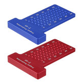 Aluminium Alloy T-60 Hole Positioning Metric Measuring Ruler 60mm Woodworking T-Squares Marking Ruler For Carpenter
