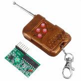 Módulo receptor transmissor RF Controle Remoto sem fio de 4 canais