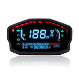 12V 14000RMP Motorcycle Digital LCD Speedometer Odometer Water Temperature Oil Gauge 2 / 4 Cylinders