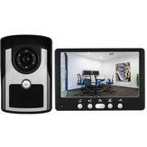 ENNIO 815FC11 Vídeo porteiro de 7 polegadas 1 Monitor 1 Campainha externa HD Sistema infravermelho de visão noturna com câmera