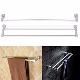 Aluminum Double Single Shelf Wall Mounted Towel Holder Bathroom Rack