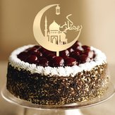 Eid Mubarak Happy Ramadan Cake Topper Insert Islam islamitische Glitter Hajj Decor Cake Decorating Tools Kuchendeckel Gateau Kage Decorations