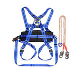 Outdoor Camping Climbing Safety Harness Seat Belt Blue Sitting Rock Climbing Rappelling Tool Rock Climbing Accessory