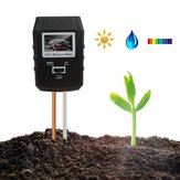 3-in-1 Tanah PH Meter Moisture Tester Taman Tanaman Indoor Lawn Light Sensor Monitor Tanah
