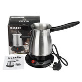 600W 600ml Portable Electric Stainless Steel Coffee Maker Percolators Moka Pot